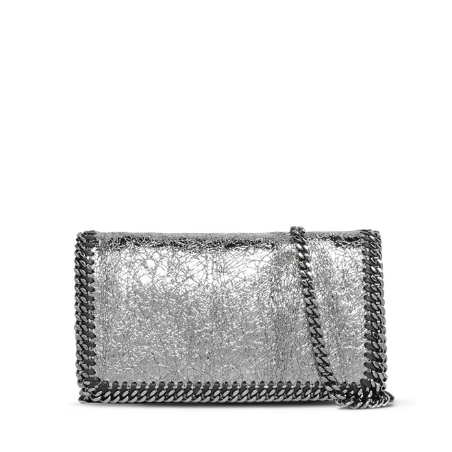 FALABELLA METALLIC CRACKLE CROSS BODY BAG