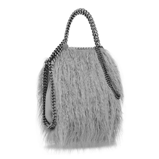 GREY FALABELLA ALTER FUR MINI TOTE 710.00