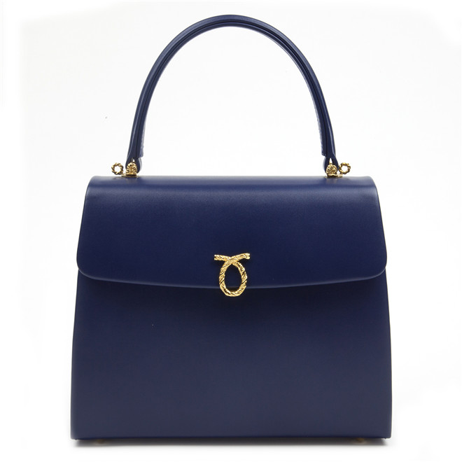 Launer London Encore Blue Calf £1,130