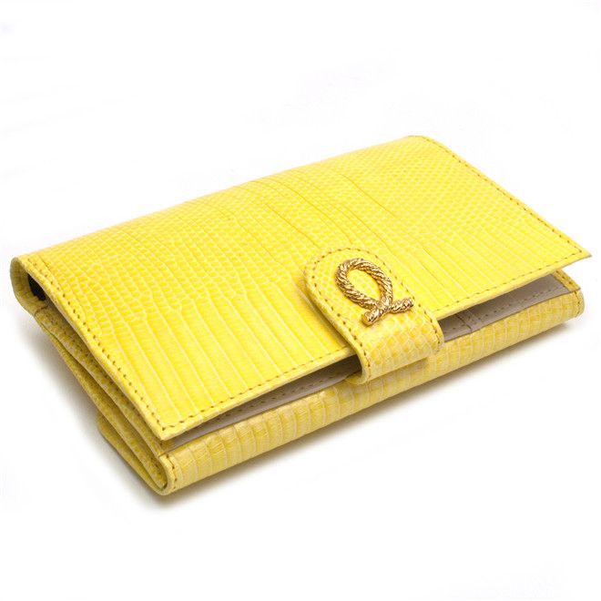 Launer London Lizard Skin Purse (Yellow) £496