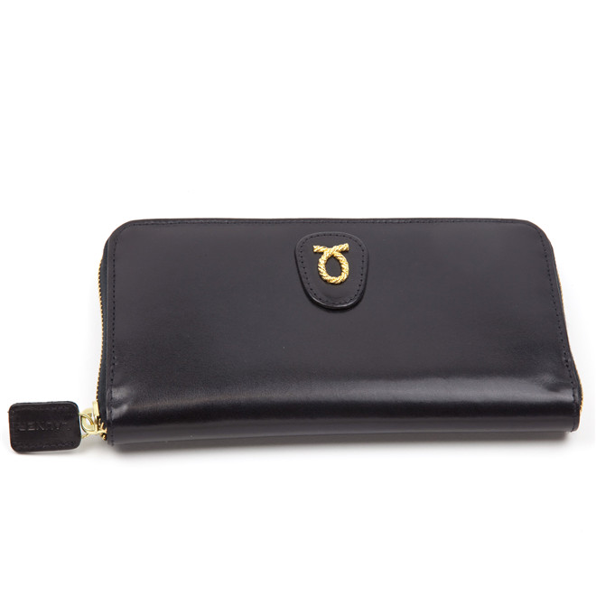 Launer large zip purse black calf £290