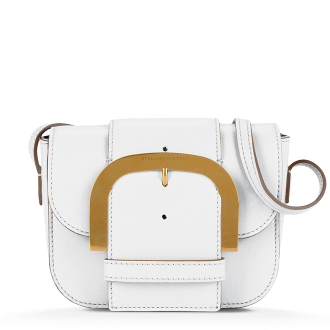 PURE WHITE BUCKLE SHOULDER BAG 680